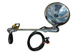 2001 Freightliner CARGO Post mount spotlight - 6 inch - 35W HID - Driver side WITH install (Cargo Spotlight)