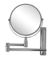 Delightful CHROME EXTENDING SHAVING MIRROR WITH MAGNIFICATION