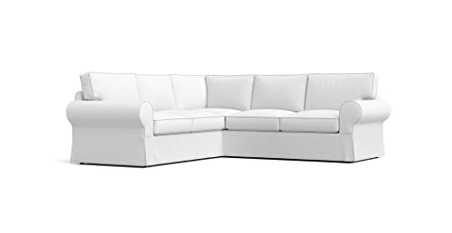 Cotton Ektorp 2+2 Sectional Sofa Cover For Ikea Ektorp 4 Seat Corner Slipcover