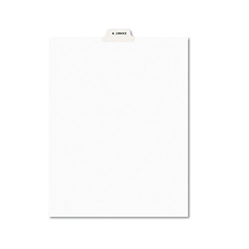 Avery 12391 Avery-Style Preprinted Legal Bottom Tab Dividers, Exhibit R, Letter (Pack of 25)