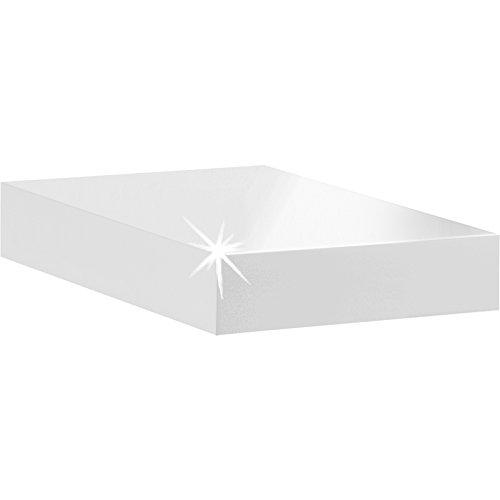 Dolle Big Boy Floating Shelf 10x10x2 High Gloss White