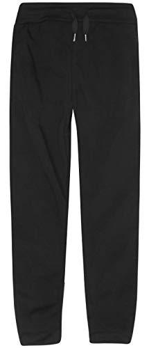 RANGE Boys Basic Solid Fleece Jogger Active Pants with Pockets, Black, Size Medium / ()