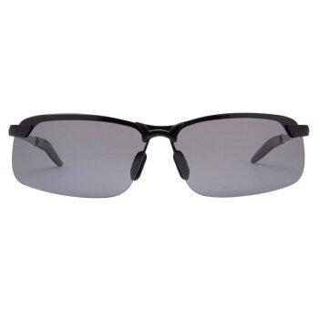 LXKMTYJ Goji Sonnenbrille Aluminium Magnesium Sonnenbrille Kampagne Kröte Spiegel Sonnenschirm fahren Brille Radsport Spiegel, Schwarz, Grauer Laschen Goji