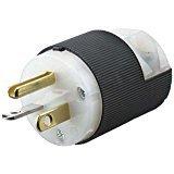 Hubbell HBL5366C Plug, 20 amp, 125V, 5-20P, Black/White (Pack of 10)