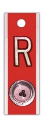 X-Ray Markers, Personal Touch Elite Style - Positioning Beads, Red, No Initials, RIGHT ONLY, R 5/8'', Vertical