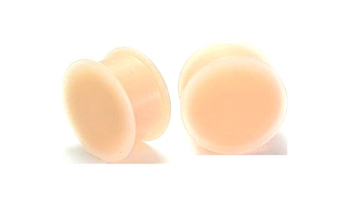 Kaos Version 1.0 Flesh Tone Silicone Hider Plug by Softwear - Price Per 1-4mm ~ 6g