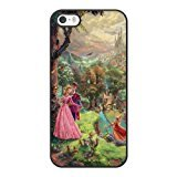 The best gift for Halloween and Christmas iPhone 5 5s Cell Phone Case Black Sleeping Beauty Wallpaper disney princess in the forest