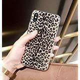 iPhone XR Case,Ebetterr Leopard Print Glitter Sparkle Bling Case Girls Women Slim Fit Anti Scratch PC Hard Back + Flexible Soft TPU Bumper Protective Cover iPhone XR (2018)