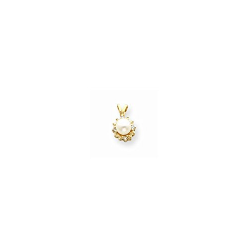 14k Yellow Gold pearl pendant mounting - Pearl Pendant Mounting Shopping Results