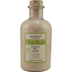 AROMA REMEDY by Aromafloria ANCIENT SEA SPA SALTS 23 OZ BLEND OF TEA TREE, GERANIUM, AND MAY CHANG (PRESERVATIVE...