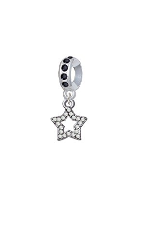 Crystal Open Heart Charm - 8