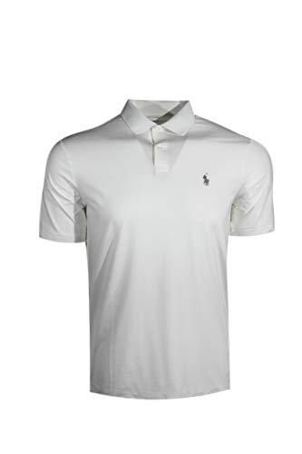Polo Ralph Lauren Mens Performance Interlock Polo Shirt (Medium, White (Grey Pony))