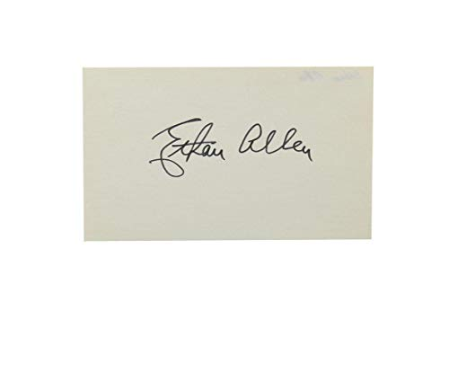 Ethan Allen Signed 3x5 Index Card New York Giants Auto - Baseball Cards