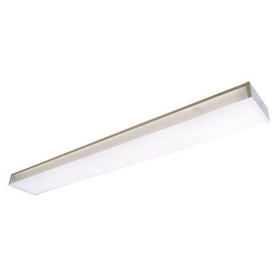 Lighting by AFX TW232R8 Low Profile 2-32 Watt T8 Wrap 2 Light Fixture, White with Clear Prismatic Lens