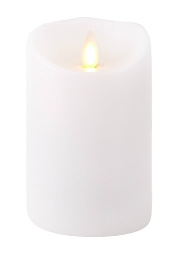 Liown Flameless Candle: Unscented Moving Flame Candle with Timer (4 White)