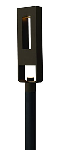 Post Lights Hinkley Lighting - Hinkley 1641BZ Contemporary Modern Two Light Post Top/Pier Mount from Atlantis collection in Bronze/Darkfinish,