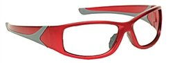 Turbo-Guard X-Ray Radiation Protection Glasses, 0.75mm Pb Equivalency Lens, Red by Colortrieve