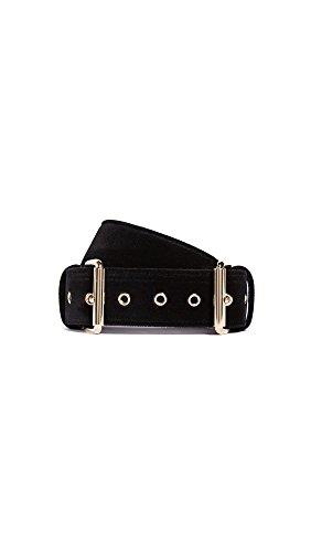 B-Low The Belt Women's Double Buckle Velvet Belt, Black, Medium by B-Low the Belt