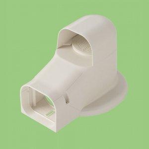 10個セット 配管化粧カバー 換気・フランジ兼用出口化粧カバー(先付用) 77タイプ 適用フランジ径130mm以下 ホワイト KF2-75S-W_set