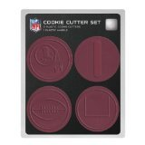 NFL Washington Redskins Officially Licensed Set of Cookie Cutters