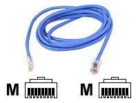Belkinponents 7ft Cat5e Patch Cable Utp Blue Pvc Jacket 24awg T568b 50 Micron Gold Plate