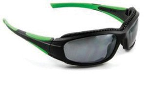 3M Safety Sunwear Safety Glasses With Black And Green Frame And Silver Mirror Anti-Scratch Lens by 3M