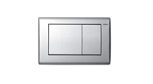Toto YT820#SS Convex Push Plate with Dual Button, Stainless Steel