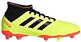 adidas Unisex-Kids Predator 18.3 FG J Soccer Shoe, Solar Yellow/Core Black/Solar Red, 12K M US Big Kid