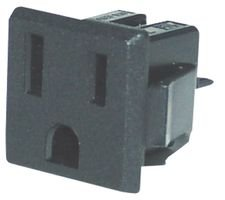 Qualtek Electronics (QUALTEK ELECTRONICS 738W-X2/03 POWER ENTRY CONN, RECEPTACLE, NEMA 5-15R, 15A (10 pieces))