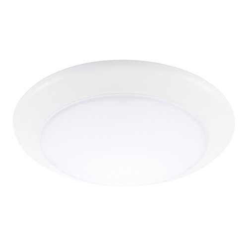 Led fixtures surface mount amazon getinlight 6 inch led disk light dimmable flush mount or recessed soft white 3000k matte white finish etl listed wet location rated in 0301 3 wh aloadofball Gallery
