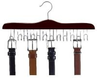 Walnut & Chrome Belt Hanger ()