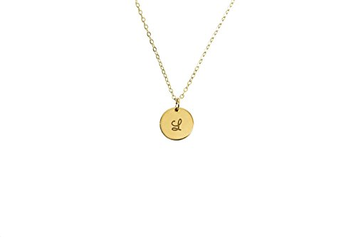 Personalized Circle Disc (Customize Round Disc Initial Necklace, Circle Pendant Necklace, Personalized Charm Necklace, Circle Disc Necklace, Dainty Gold charm necklace.)