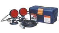 Heavy duty suction cup tow lights, 30ft cord, 4 rnd plug/ carrying by Custer Products