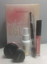 Bareminerals Pick up & Glow 5-piece Illuminating Collection Prime Time Gold, Moxie, Brush, Blush Highlight
