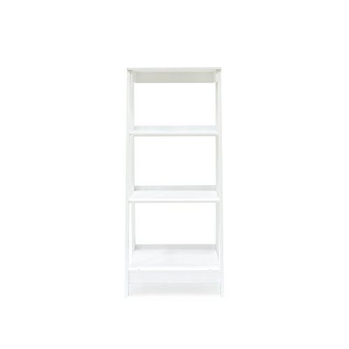 Coismo 3-Tier Ladder Functional Shelf Wooden Home Office Storage Bookcase Display, White by Coismo (Image #3)