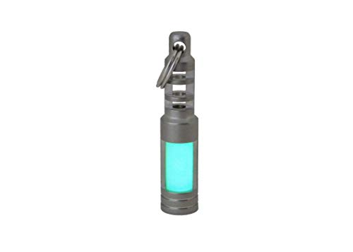 TEC-SCR Isotope Chain Reaction Fob (Aqua) - Glow in The Dark tritium Vial housing for 3x11mm -
