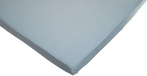 American Baby Company 100% Cotton Value Jersey Knit Fitted Portable/Mini Crib Sheet, Blue