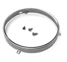 Retainer Headlight Ring - 1949-1975 Headlight Assembly Retainer Ring, Stainless, 1 Inch