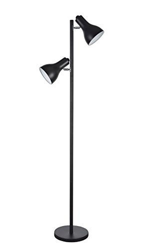 Aspen Creative 45012-2 45012-1, 2-Light Adjustable Tree Floor Lamp, Modern Design High 2, 63