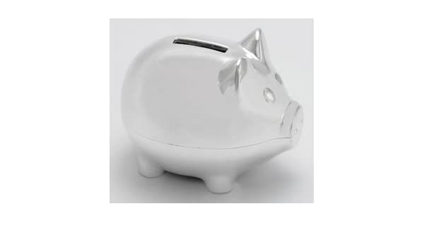 Piggy Bank Silver Plated Money Box Baby Product