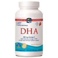 DHA, 500 mg, Strawberry 180 softgels by Nordic Naturals (Pack of 2)