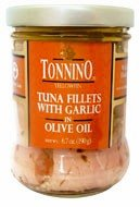 Tonnino Tuna Fillets with Garlic Packed in Olive Oil 3 pack