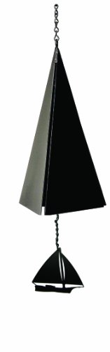North Country Wind Bells Nantucket Bell Windcatcher with Black Skip Jack