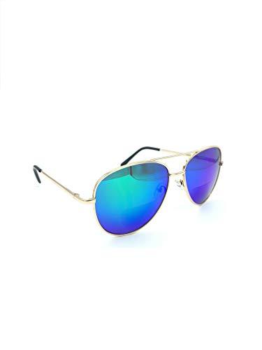 - Bifocal Reading Sunglasses for Men or Women 100% UVA & UVB Mirrored Lens (Green-Blue, 2.00)