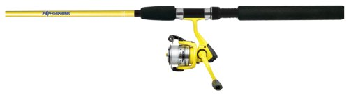 Cheap Okuma FN-662-25Yb Fin Chaser Medium Spinning Combo, Pre-Spooled, 6-Foot 6-Inch Length, Yellow Finish