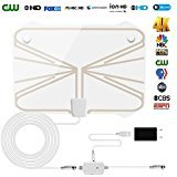 [2018 Newest] Skywire TV Antenna for Digital TV Indoor 60-80 Miles Range Clearview HDTV Antenna 1080P 4K with...