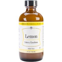Lorann Oils 0806-0758 Bakery Emulsions Natural & Artificial Flavor 4oz - Lemon -