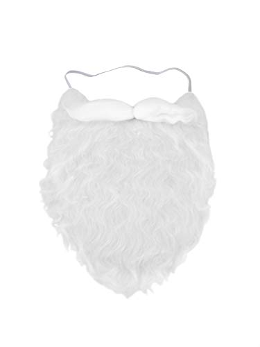 Jacobson Hat Company White Full Beard and Mustache Costume Accessory]()