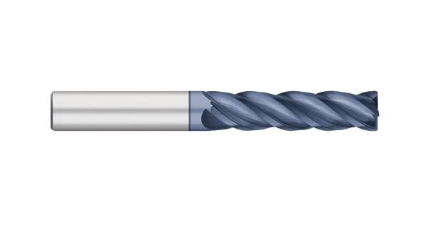 4 Flute Long Length ALCRO-Max Coated 0.030 Corner Radius Titan TC23911 Solid Carbide End Mill Corner Radius 2 Length of Cut 4 Overall Length 1//2 Shank Diameter
