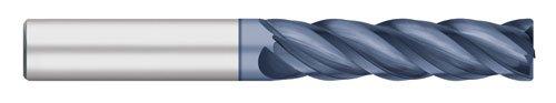 Titan TC23660 VI-Pro Variable Index Solid Carbide End Mill 2-1//4 Length of Cut Long Length Corner Radius 3//4 Cutting Diameter 5 Overall Length 4 Flute AlTiN Coated 0.030 Corner Radius 3//4 Cutting Diameter 5 Overall Length 2-1//4 Length of Cut